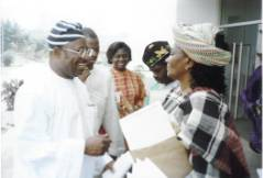 Sen. Dr. Jacob Tilley-Gyado & Amb. Sarah Jibril at Abuja 2001